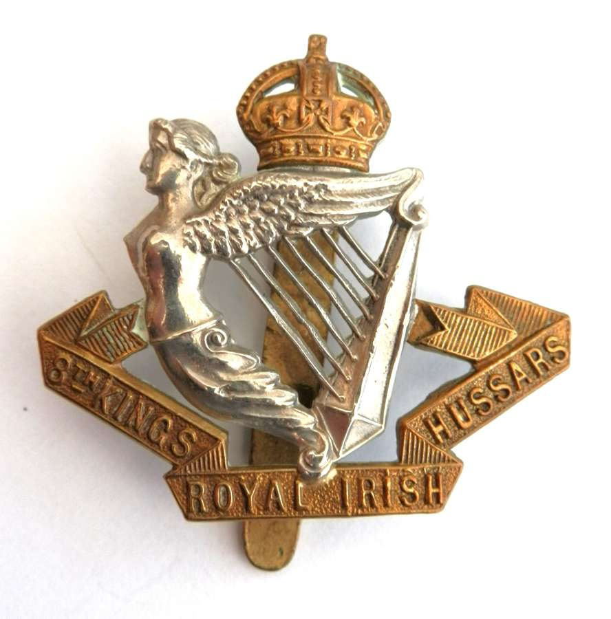 8th King's Royal Irish Hussars Cap Badge