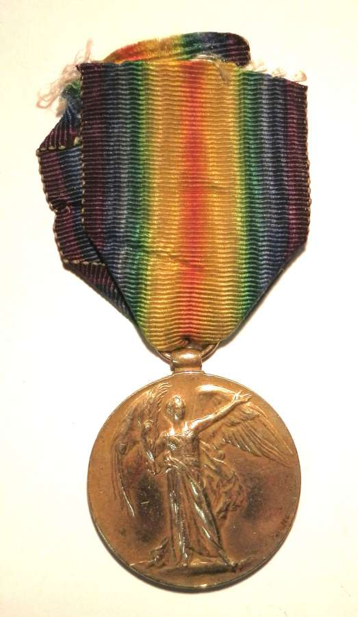 Victory Medal. Private Frank W. Chapman. 1/ 6th South Staff Regt.