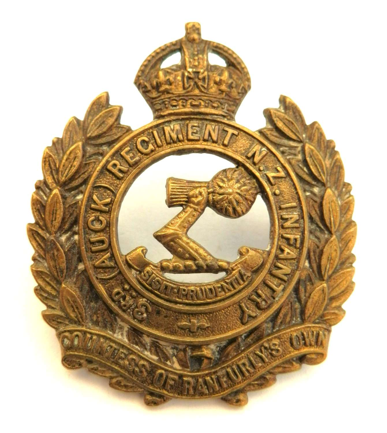 3rd (Auck) Regiment N.Z. Infantry Cap Badge.