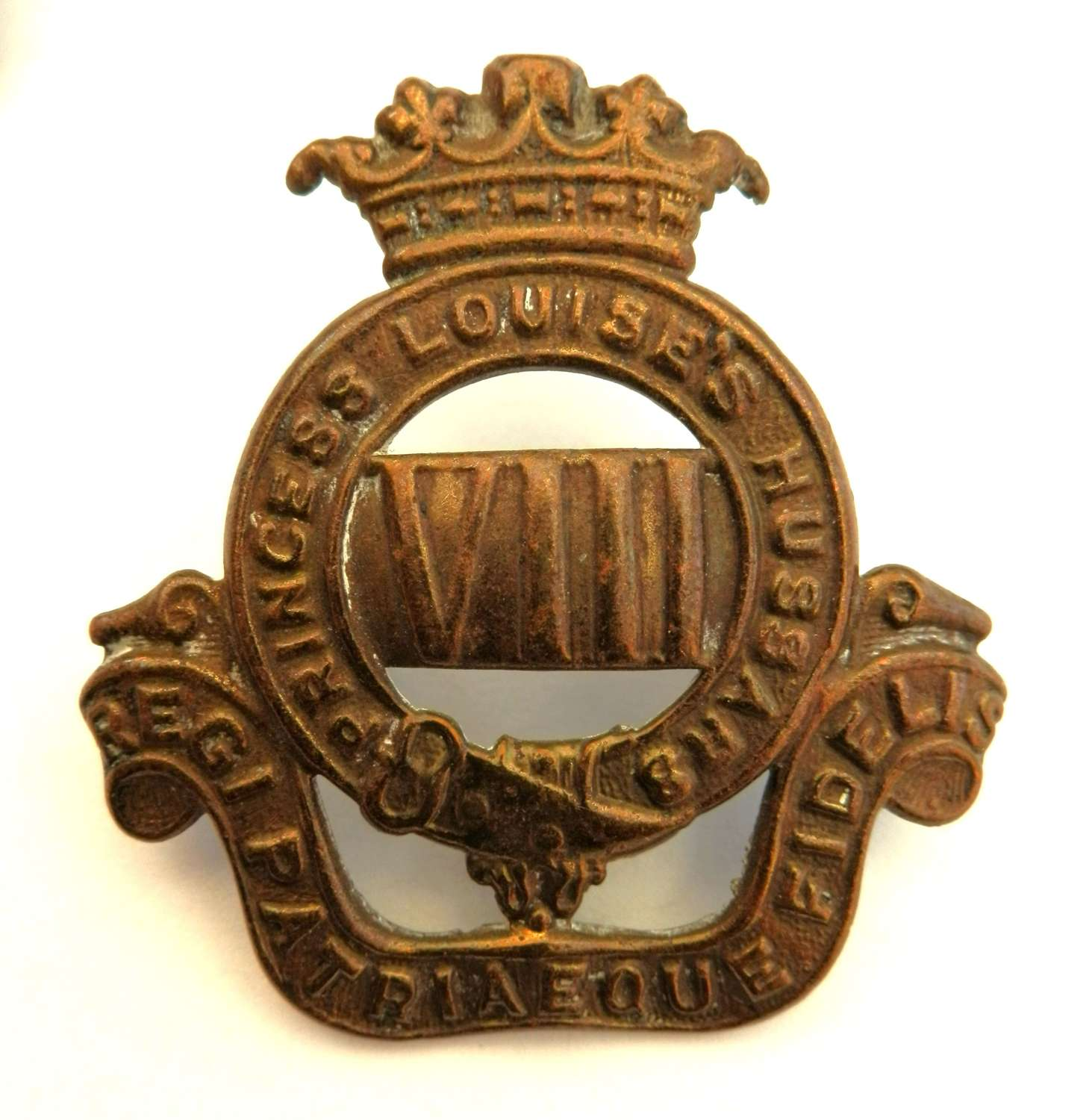 The 8th Princess Louise's Hussars Canadian Cap Badge.