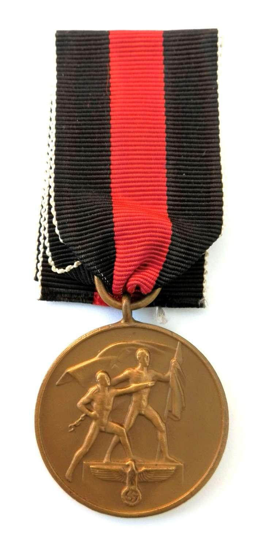 Anschluss German Czech 1st Oktober 1938 Medal