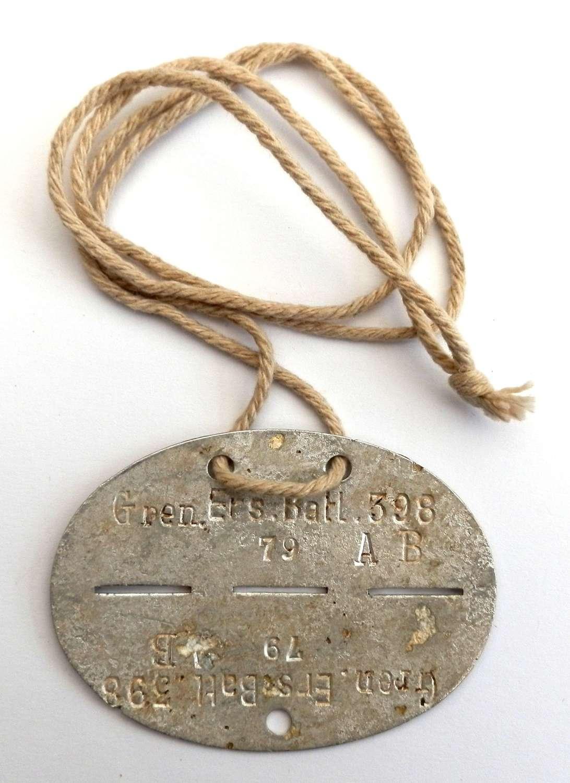 German WWII Dog Tag.