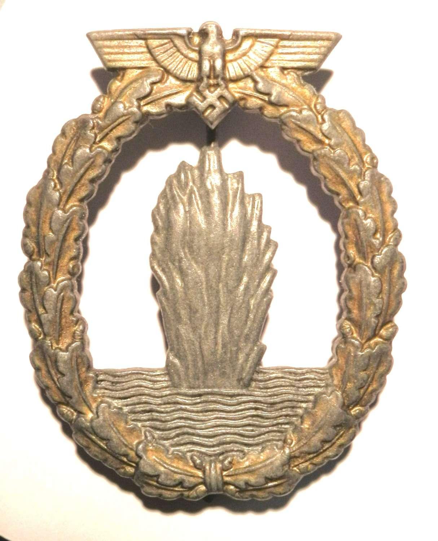 Kriegsmarine Minesweeper Badge. War Trophy Example.