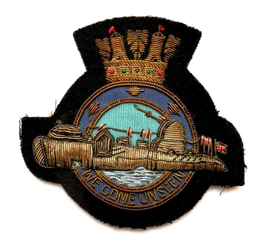Royal Naval Post War Submarine Blazer Patch.