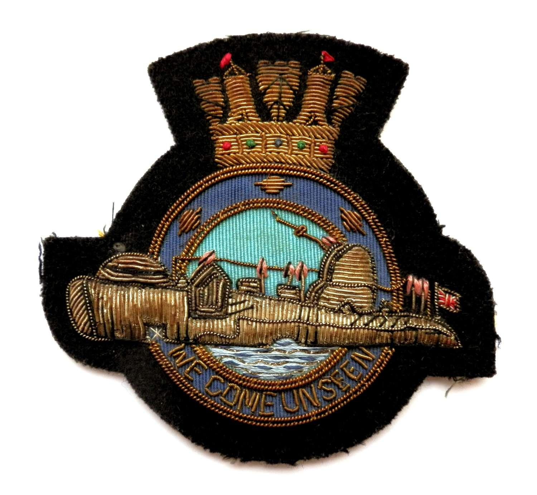 Royal Naval Post War Submarine Blazer Patch.
