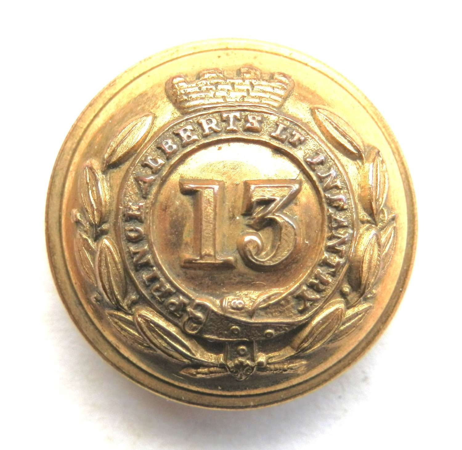 13th (1st Somerset) (Prince Alberts) Regiment Officers Button.