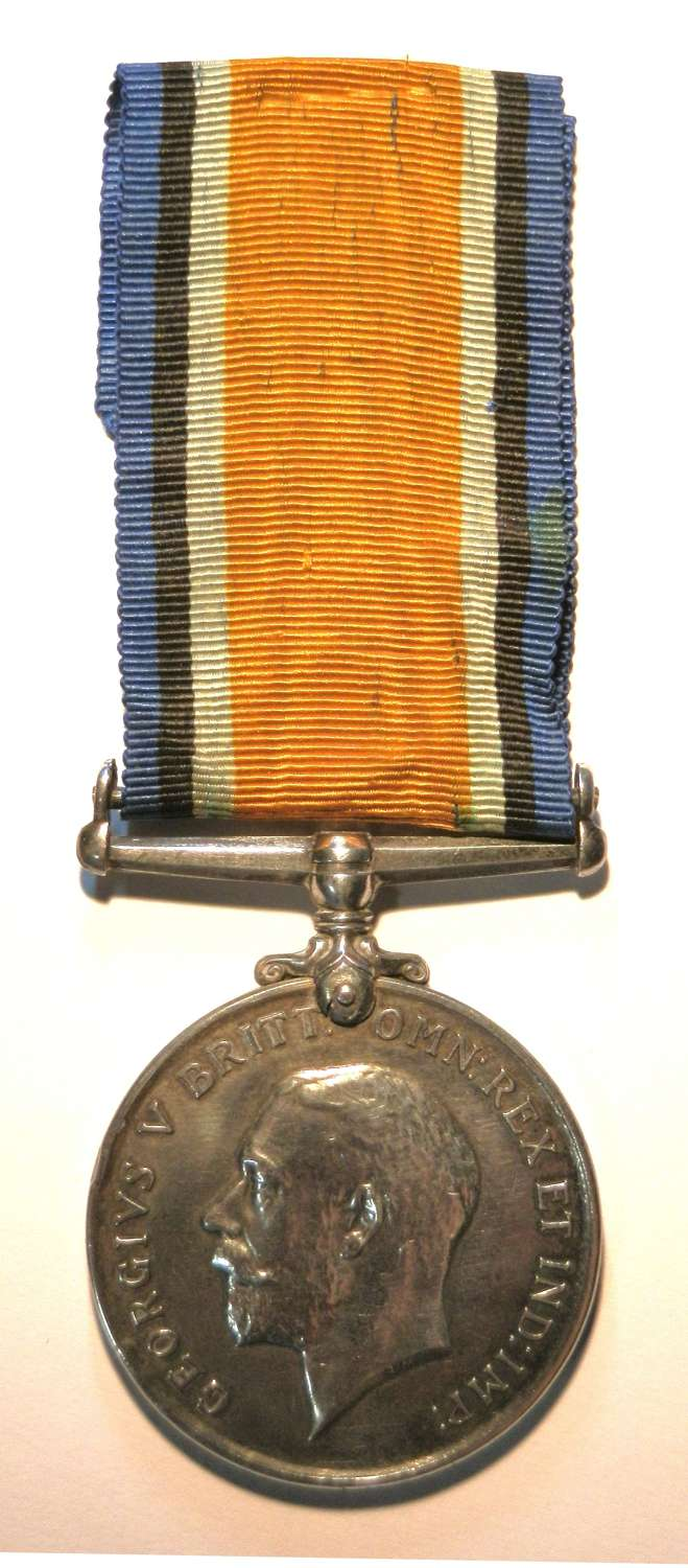 British War Medal. Private. F. Koepstadt. 1st Cape Corps.