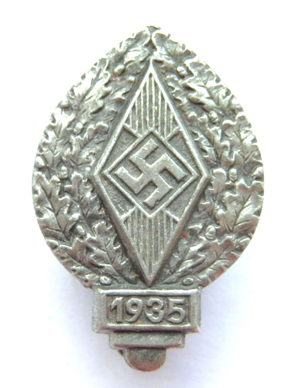 Hitler Youth Sports Pin Badge.