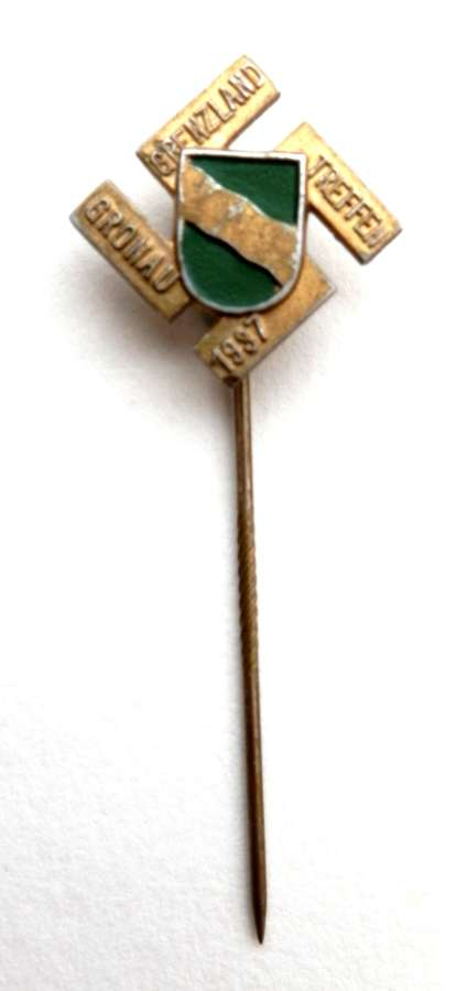1937 Gronau Border Meeting Lapel Pin