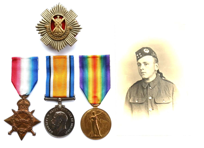 TRIO. Private Charles F. Ashton. 1st Bn. Royal Scots.
