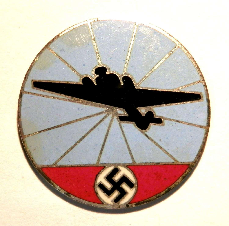 Reichsluftschützbund (RLB). Members Pin.