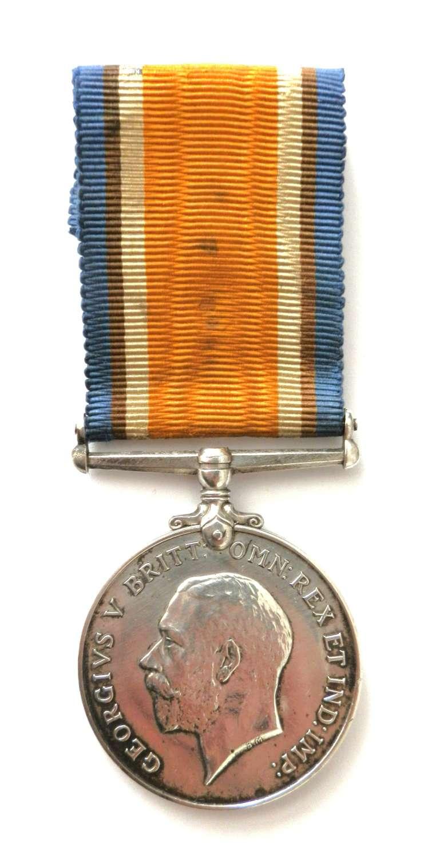 British War Medal. Sjt F.J. Balson. 2 Hants Regt. Late 2/Lt. R.Berks R