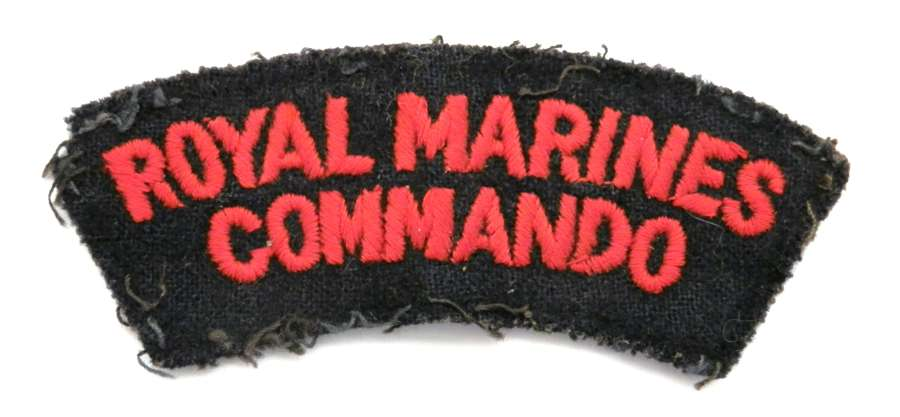 Royal Marines Commando Cloth Shoulder Title