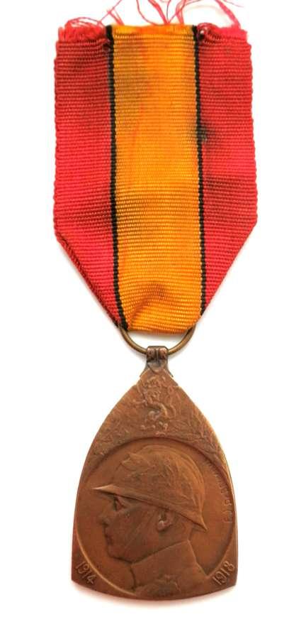 Belgium Military Issue Commemorative Medal 1914-18 War