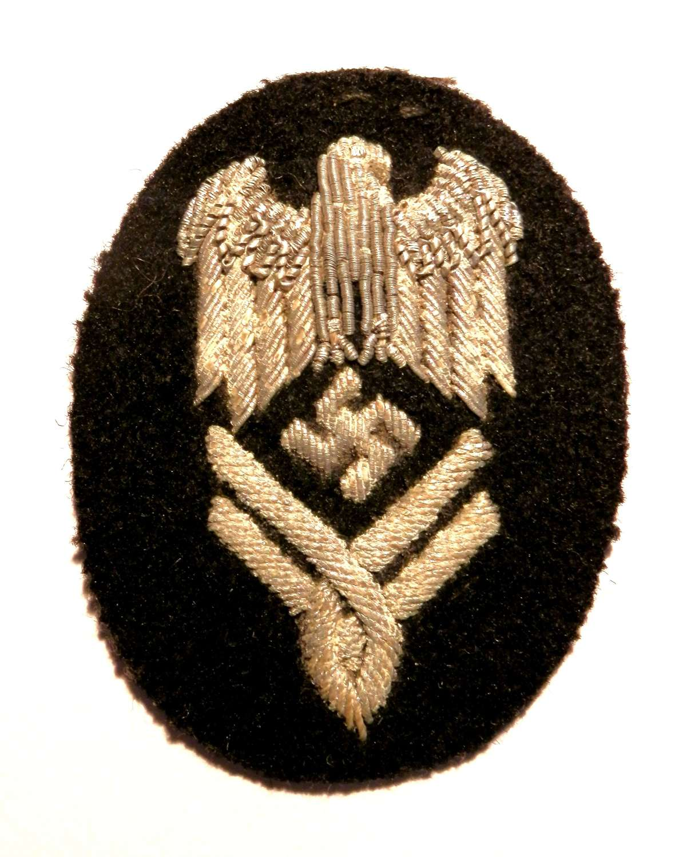 Kriegsmarine Civil Admin Sleeve Trade Badge.