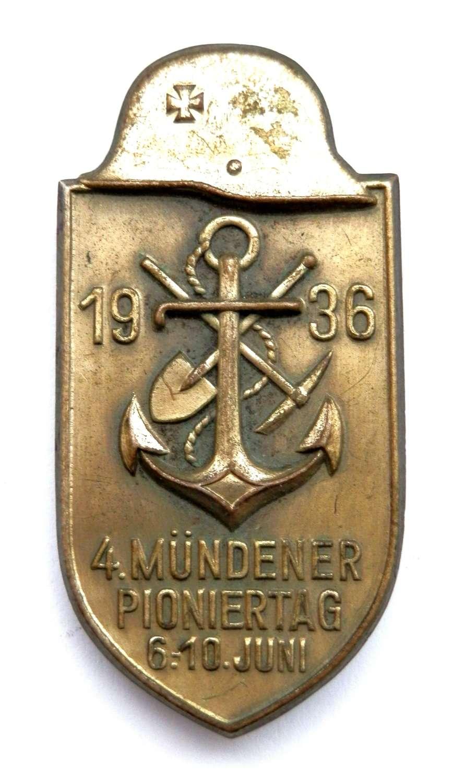 '4. Mündener Pioniertag - 6.-10. Juni 1936' Day Badge.