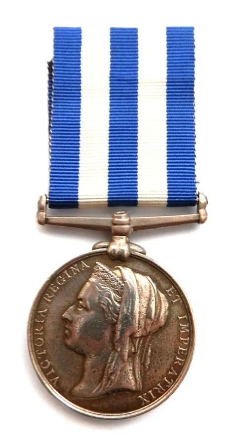 Egypt Medal 1882-89 L/Cpl J. Eastmond. C & T.C.