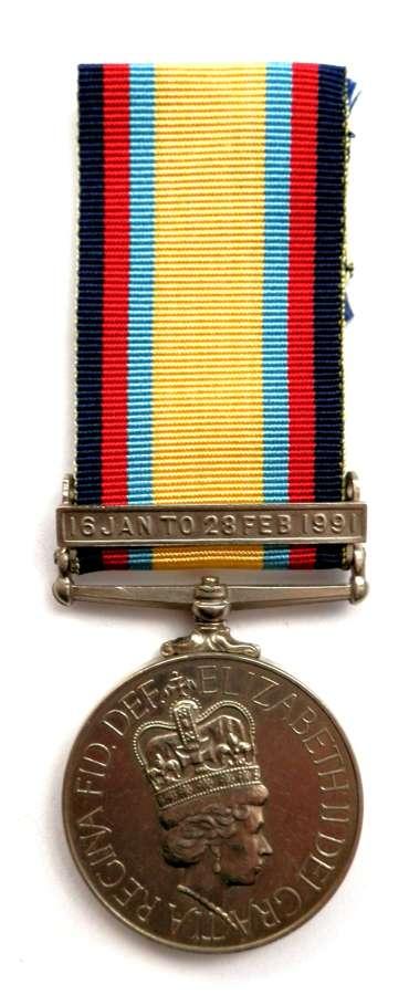 Gulf Medal 1990-91 Sgt I. S. Ciobanu Romanian Military Hospital.