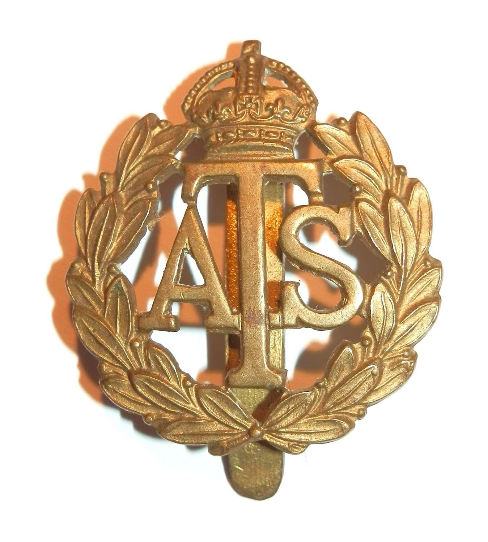 Auxiliary Territorial Service Cap Badge.
