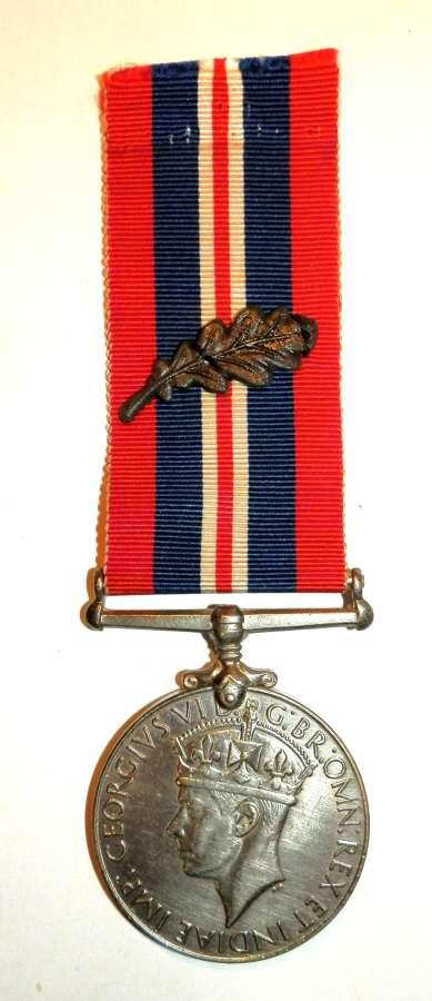 1939-45 War Medal with MID Oak Leaf