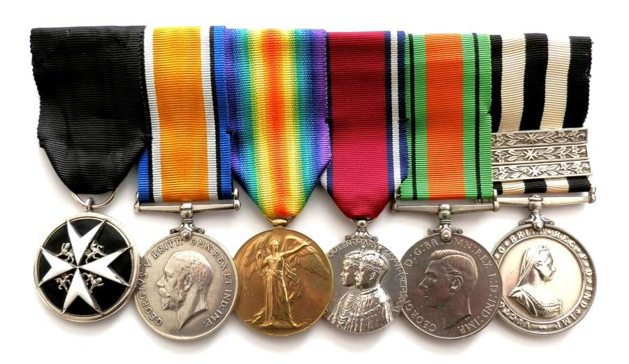 GROUP OF SIX. Cpl. A. Brown, 2/15th Bn. London Regt.