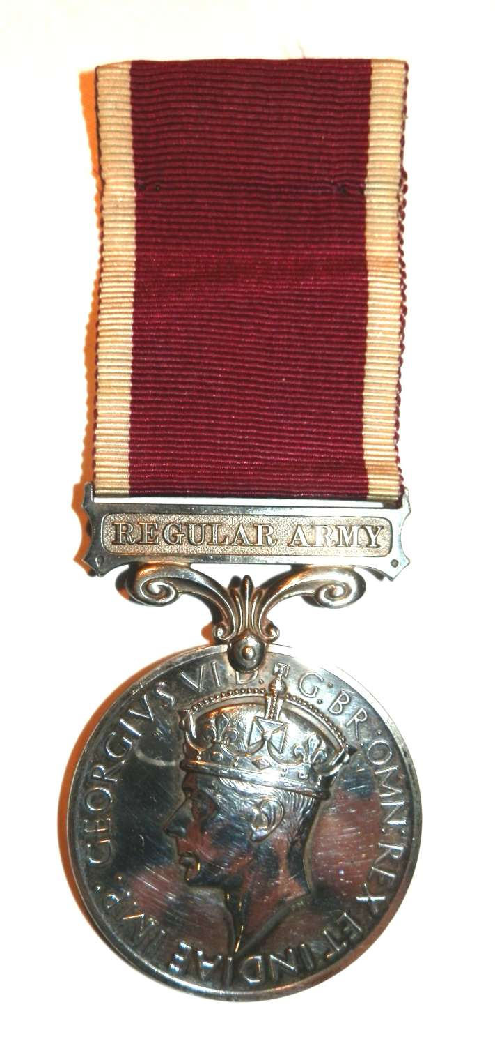 Army L.S. & G.C. Medal Sgt Albert S. Gowing. Royal Artillery.