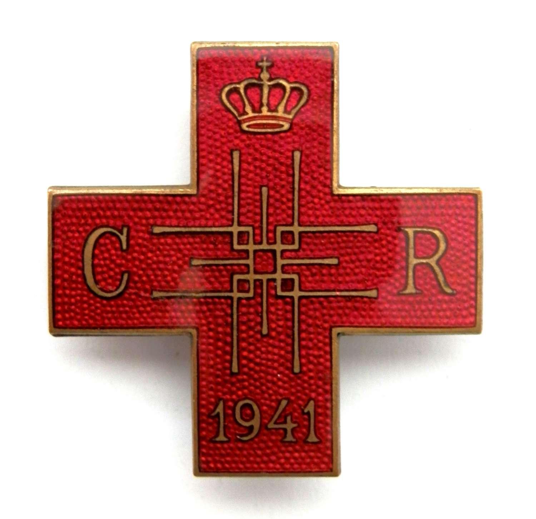 Romanian, 'Rotes Kreuz Steckkreuz 1941' Badge.