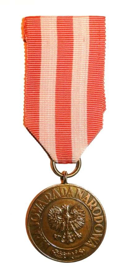 World War II Polish Forces Victory Medal 1945.