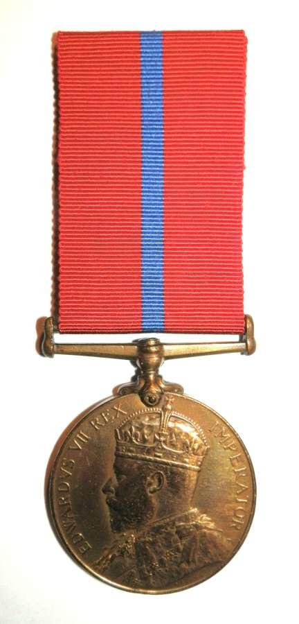Coronation (Police) Medal 1902. PC E Smith Met Police.