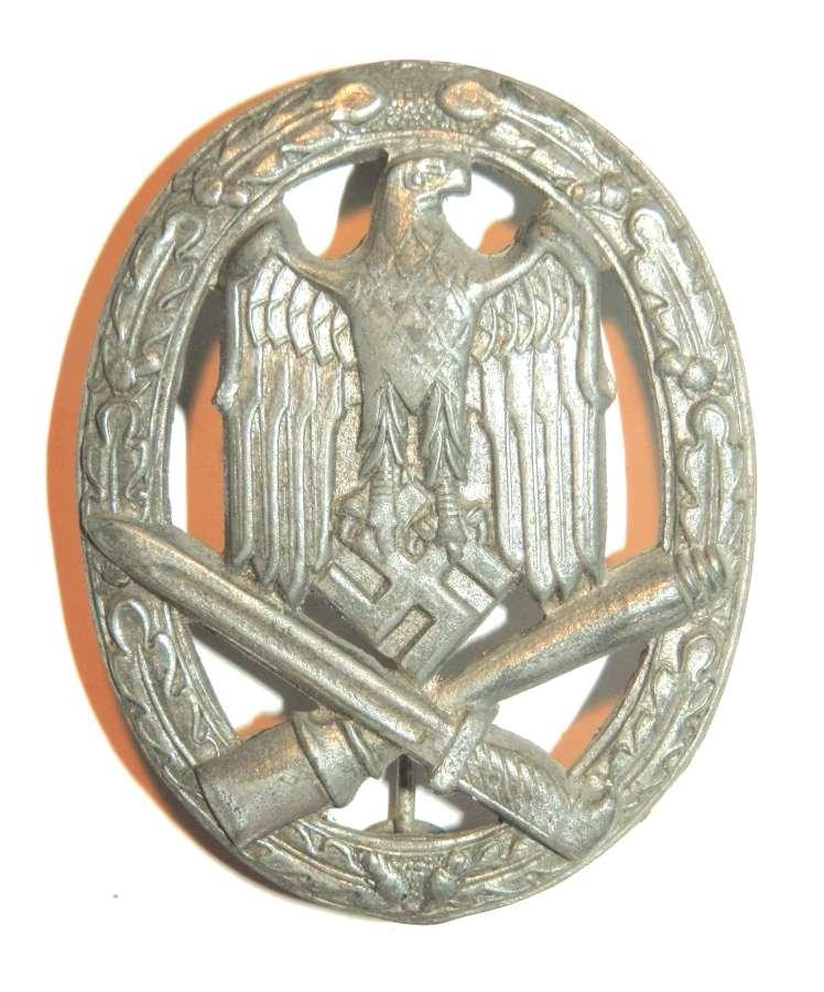 German General Assault Badge. Non maker marked.