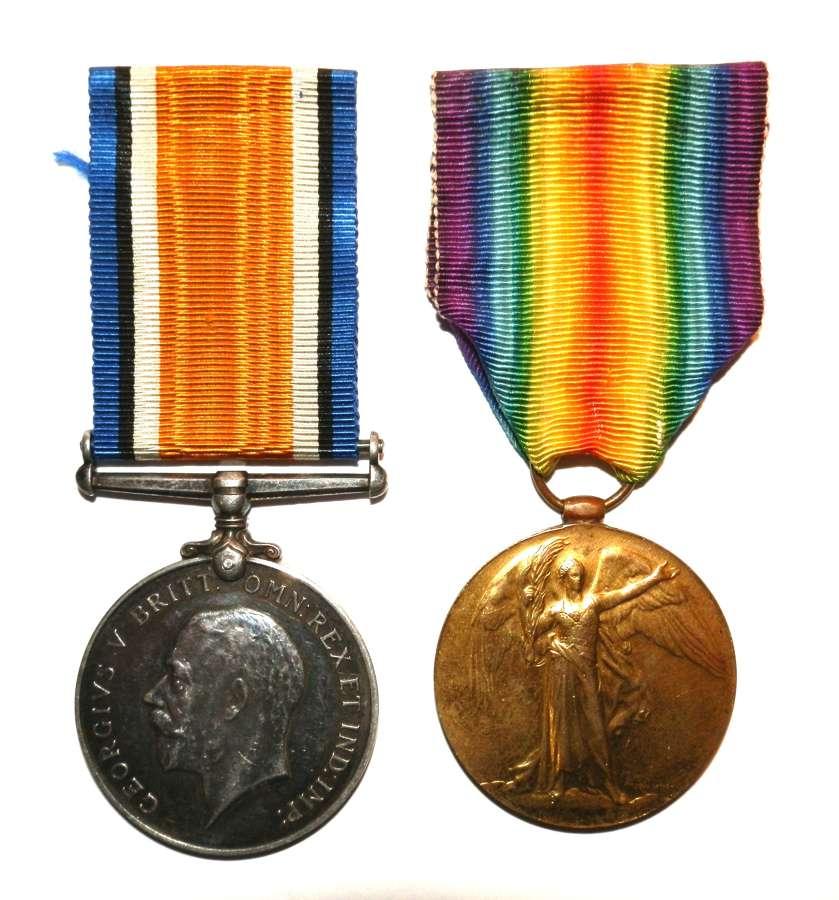 PAIR. Second Lieutenant William James Irwin. Army Service Corps.