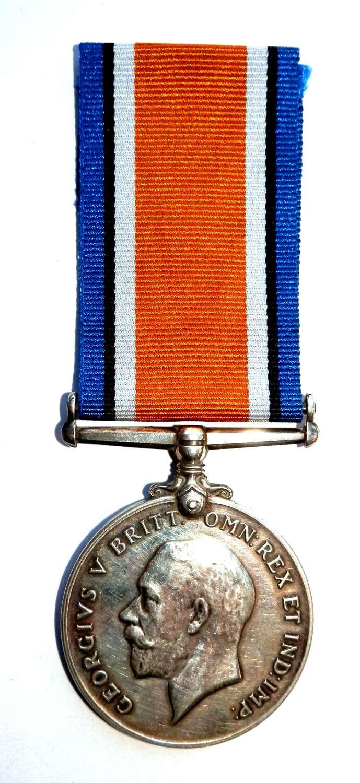 British War Medal Pte. W. Mallett, Notts Sherwood Rangers Yeo.