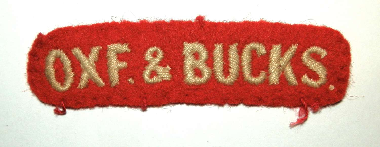 Oxf & Bucks Cloth Shoulder Title.