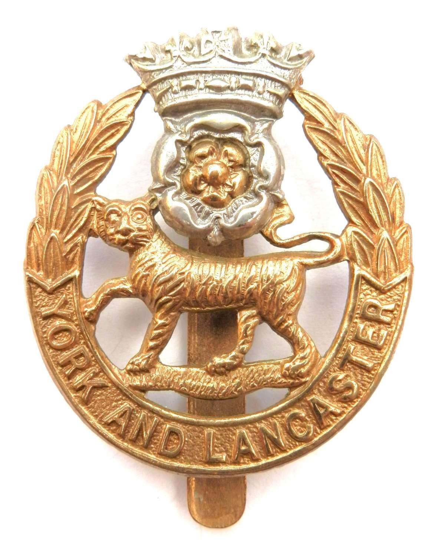 The York and Lancaster Regiment Cap Badge.