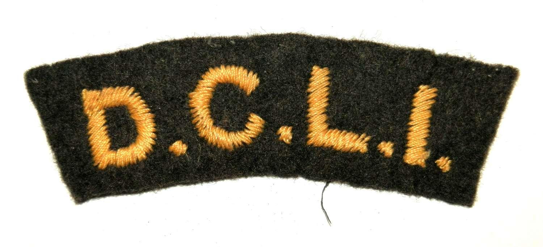 D.C.L.I. (Duke of Cornwall Light Infantry) Cloth Shoulder Title.