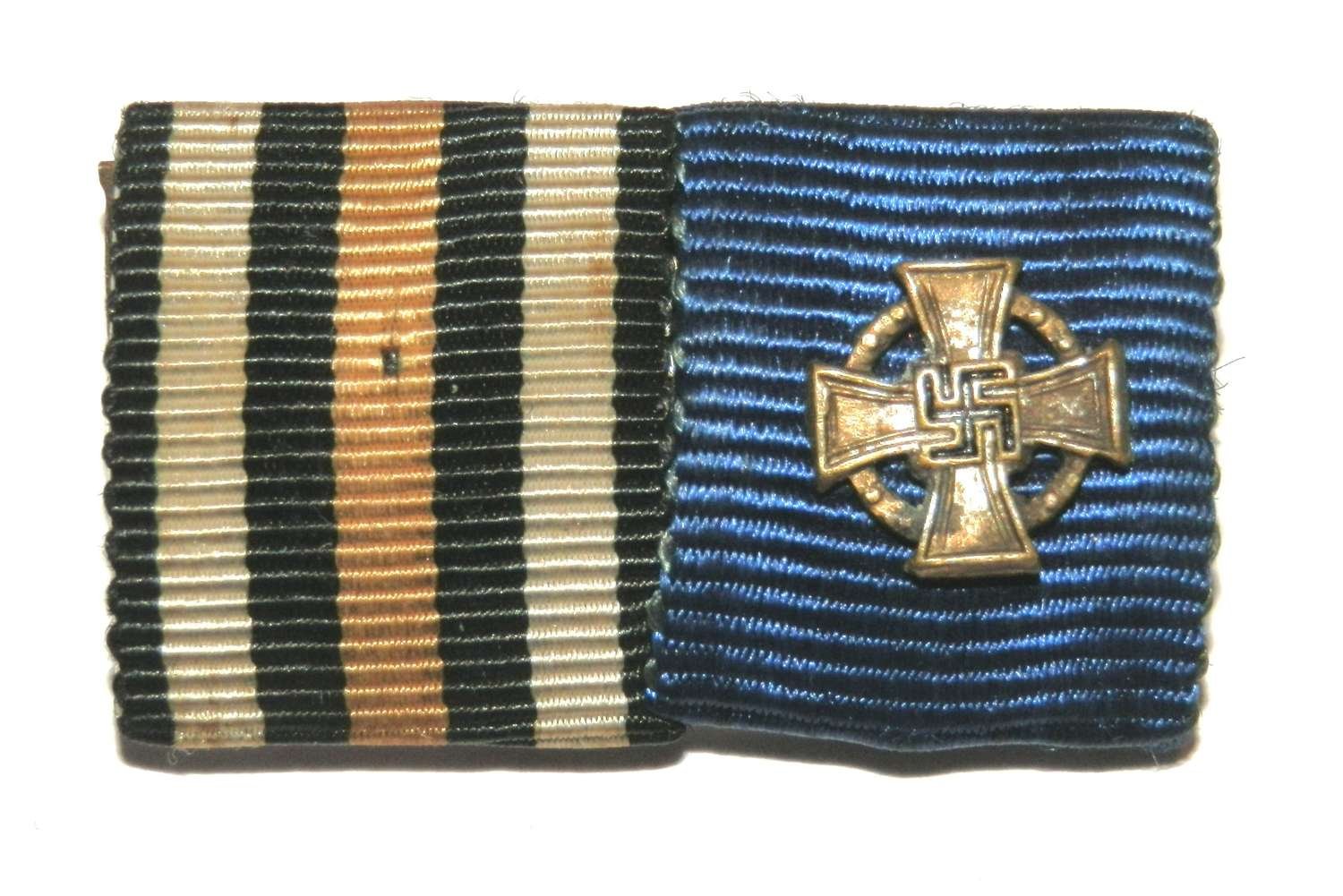 Cross of Honour 1914-18 & 25yr Faithful Long Service Ribbon Bar.