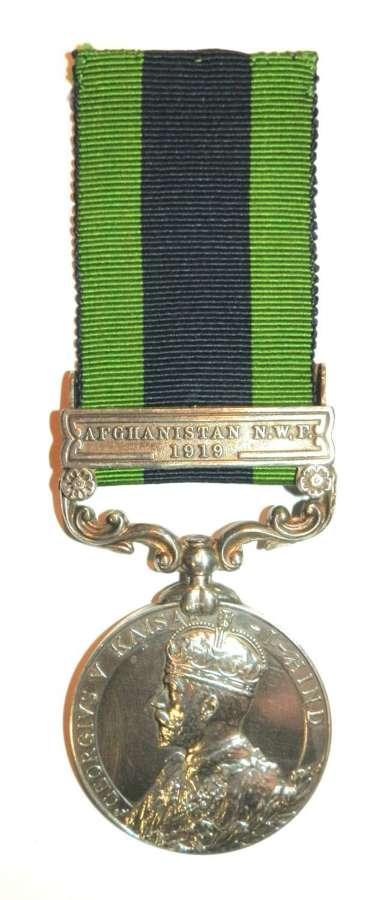 Indian General Service 1908. Pte. G.H. Parker. Royal West Kent Regt