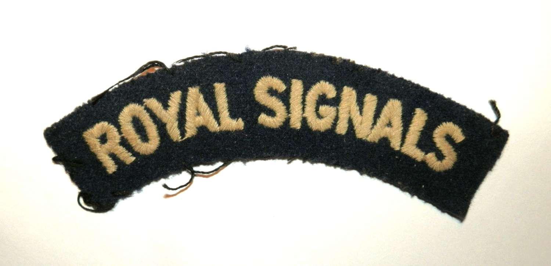 Royal Signals Cloth Shoulder Title.