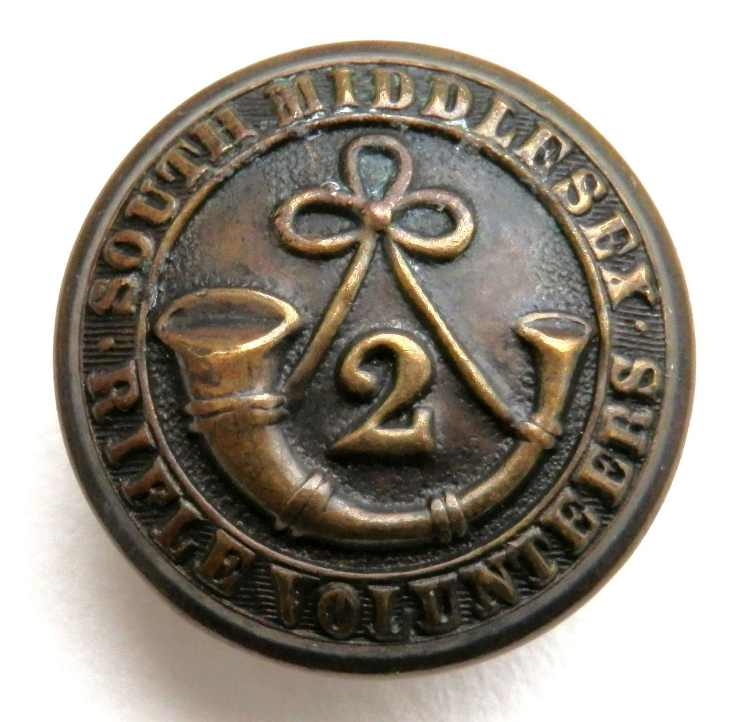 2nd South Middlesex Volunteers Button.
