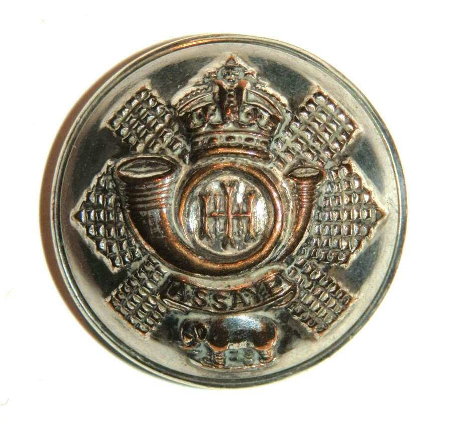 Highland L.I. (City of Glasgow Regt.) Officers Silvered Button.