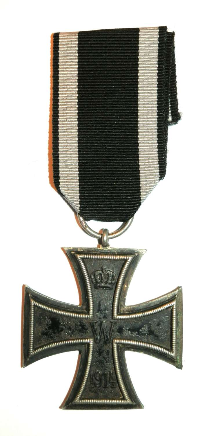 Imperial German WWI, Iron Cross 2nd Class. Makers Marked KO.