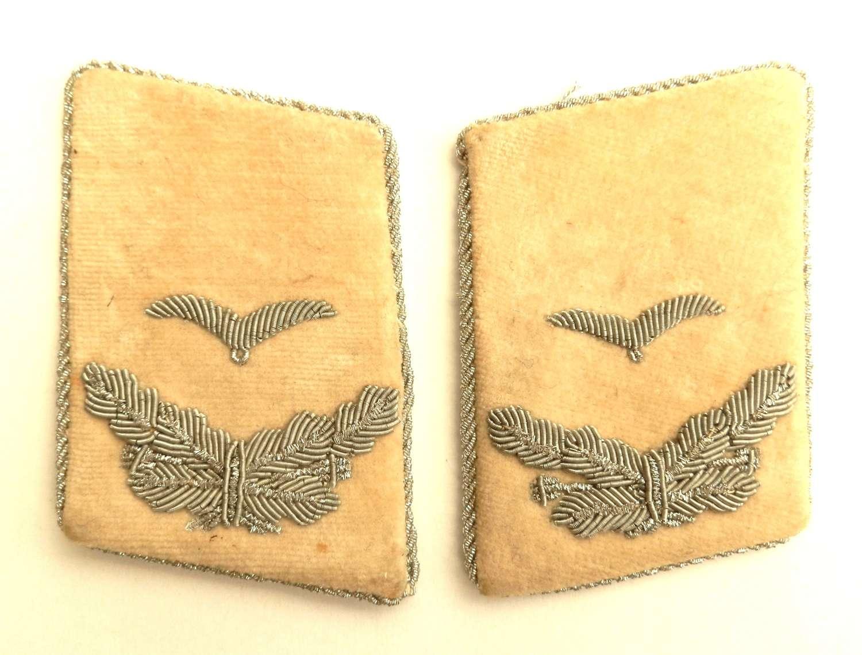 Luftwaffe 1st Lieutenant Herman Goring Division. Collar Insignia.
