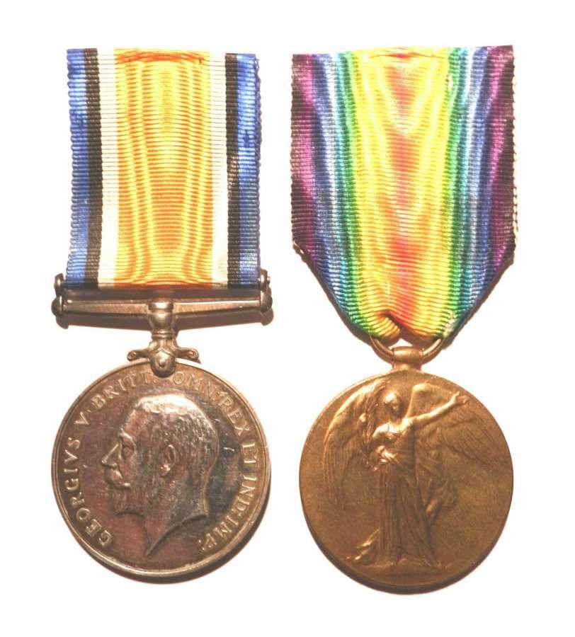 PAIR. Private Walter J. Clarke. 8th Royal Berkshire Regiment.