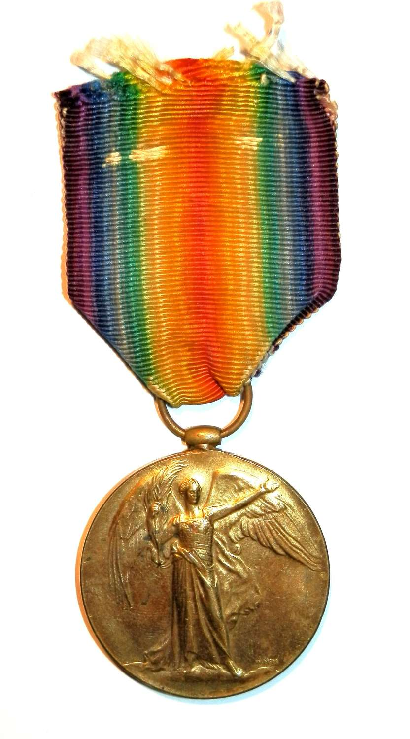 Victory Medal. Private William J. Harris. Army Service Corps.