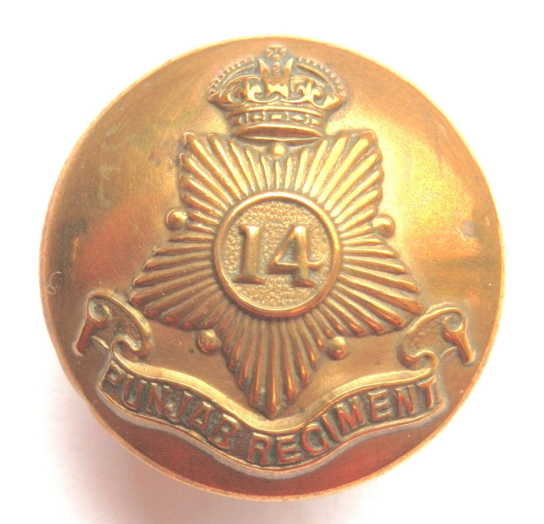 14th Punjab Regiment Button.