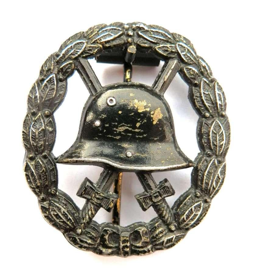 Imperial German WWI Black Wound Badge (skeleton issue).