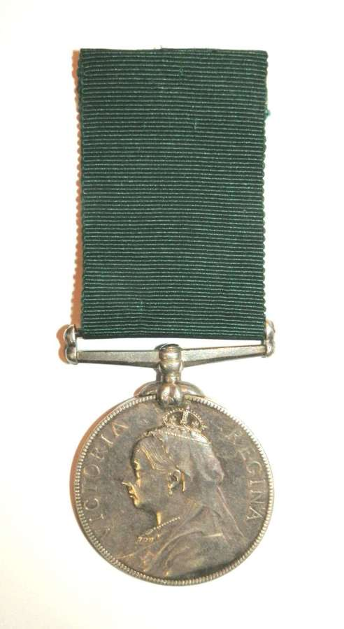 Volunteer L.S. Medal. Pte. J. Brock. 1st Vol. Bn. Dev. Regt.
