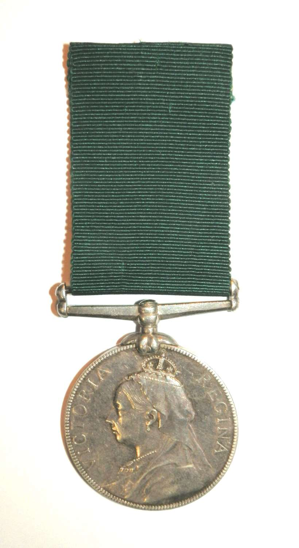 Volunteer L.S. Medal. Pte. J. Brock. 1st Vol. Bn. Dev. Regt.