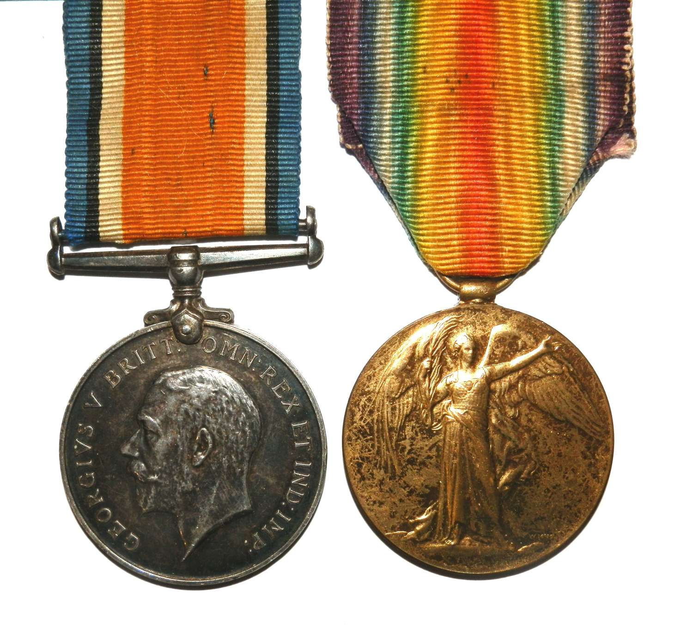 PAIR. Pte W. H. Brook. 2/8th Bn. Territorial Force. Worc. Regt.