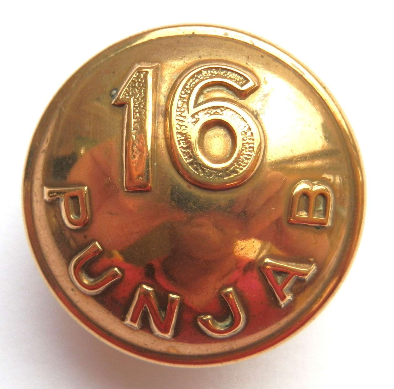 16th Punjab Regiment Button.